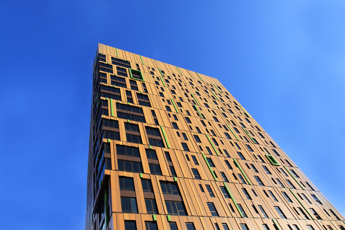 Alucobond Plus, MassArt Residence, ADD, Boston, Kate Hensley Suffolk Construction
