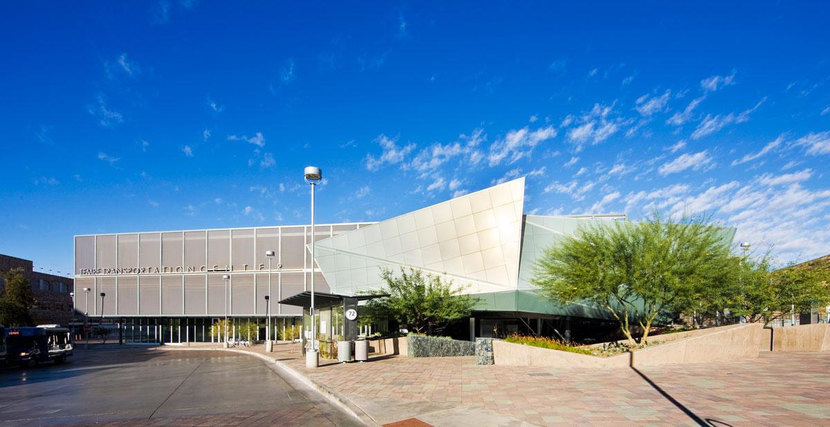 Alucobond Spectra Green, Tempe Transportation Center, Arizona, Otak, Architekton