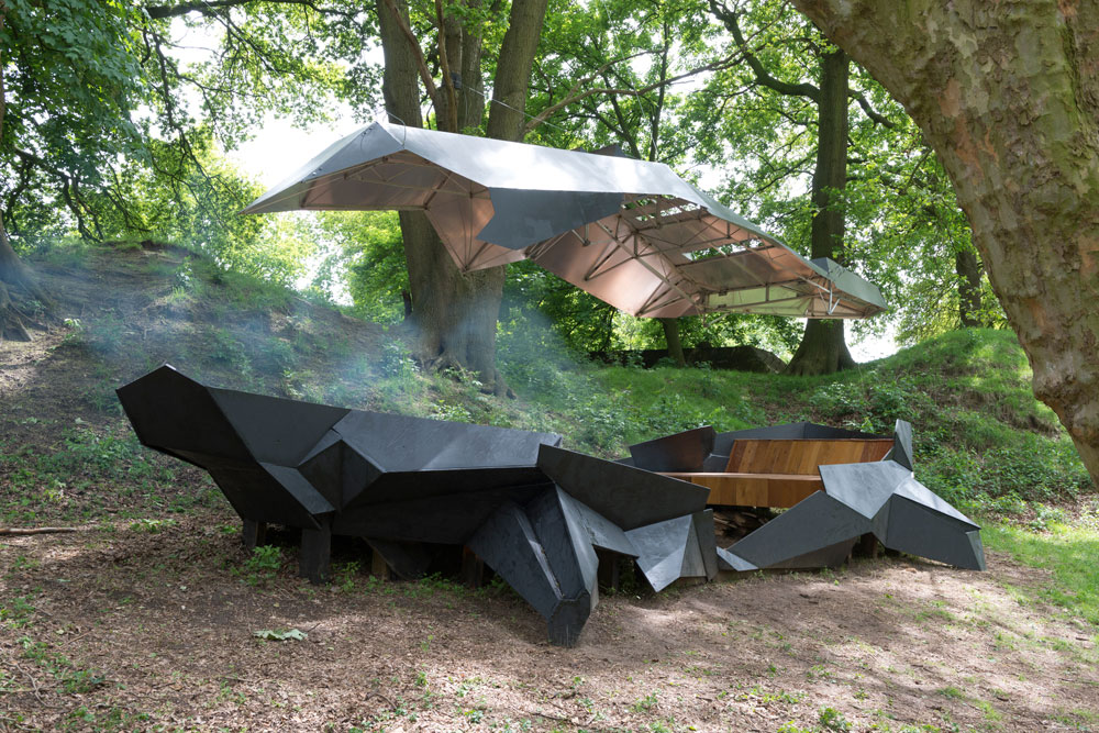 Stealth Pavilion by Paul Segers, Photography By Peter Cox