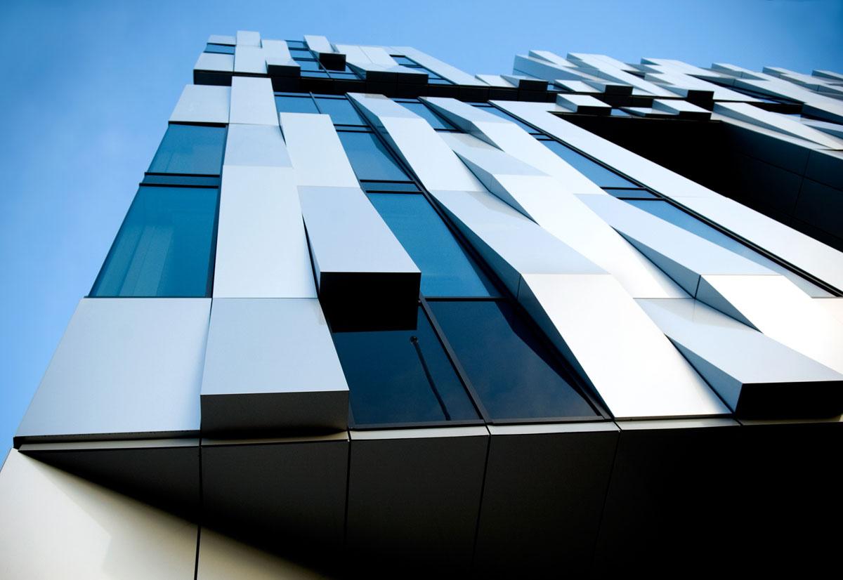 Uppsala Concert and Congress Hall, Henning Larsen Architects, Alucobond Sunrise Silver Metallic, Sweden