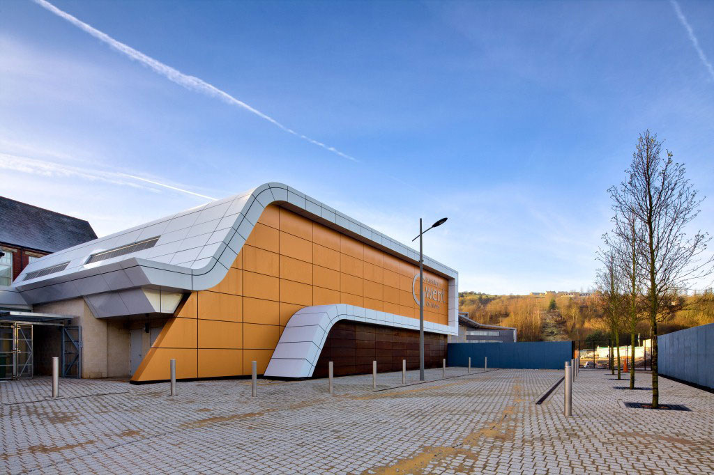 Gwent Records Archive, Ebbw Vale Steelworks, Stride Treglown, Alucobond Europe ACM, Photography Booth Muirie via Photosignals