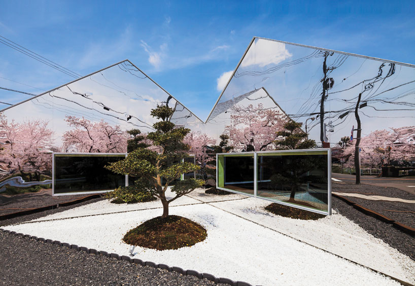 Mirrors, Bandesign, Cafe, Gifu Japan, Photography Shigetomo Mizuno