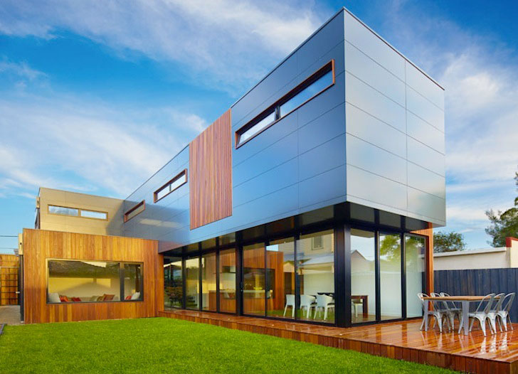 Beautiful modern dwelling by modscape clad in alucobond acm for Contemporary residential architecture design