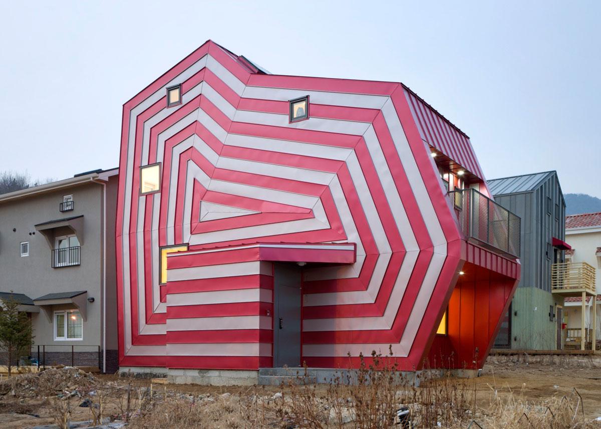 Lollipop House, Architect Moon Hoon, Metal Cladding, South Korea