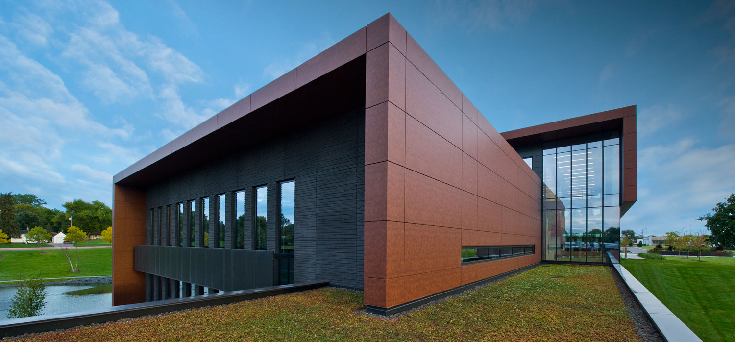 Headquarters Clad In Alucobond Natural Reflects Product