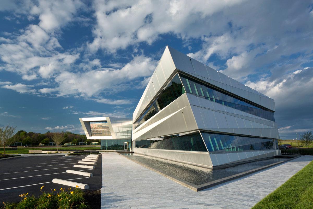 Connor Group Headquarters, Miamisburg, Ohio, Moody Nolan, Alucobond Natural Brushed Finish, Photography Brad Feinknopf