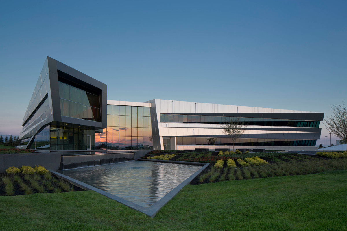 Connor Group Headquarters, Miamisburg, Ohio, Moody Nolan, Alucobond Natural Brushed Finish, Photography Brad Feinknopf