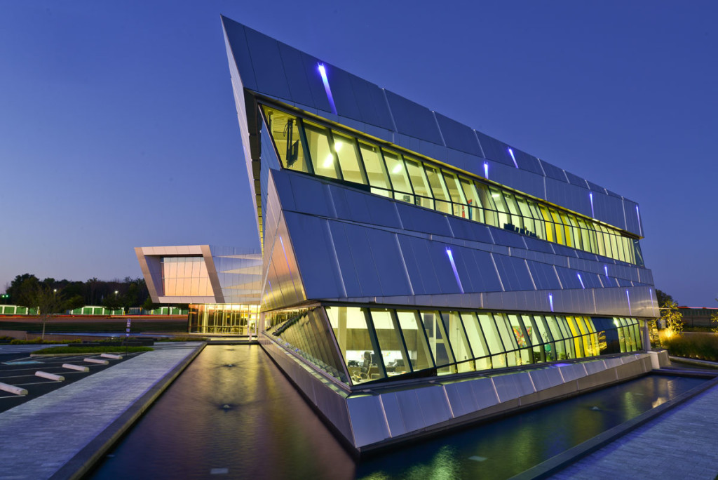 Connor Group Headquarters, Miamisburg, Ohio, Moody Nolan, Alucobond Natural Brushed Finish, Photography Daniel Lunghi
