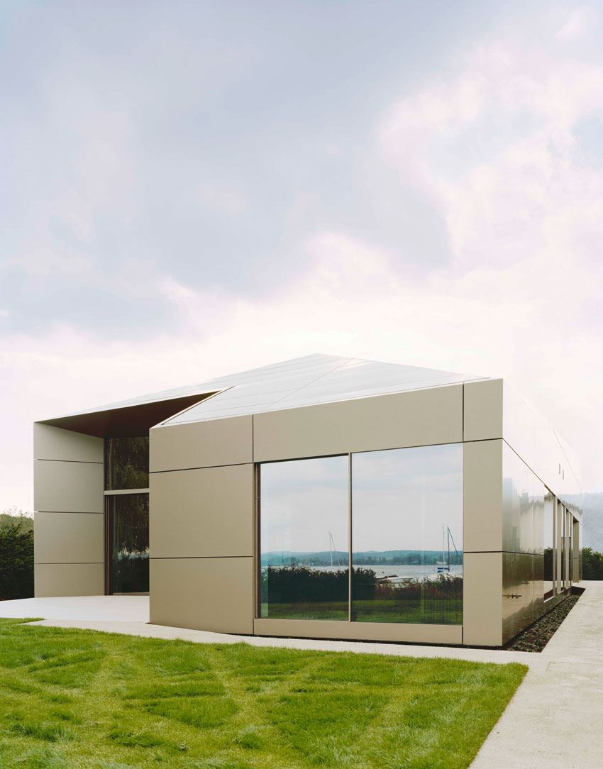 Villa Moos, Biehler Weith Associated, Alucobond Plus Anodized, Lake Constance, Photography by Brigida Gonzalez