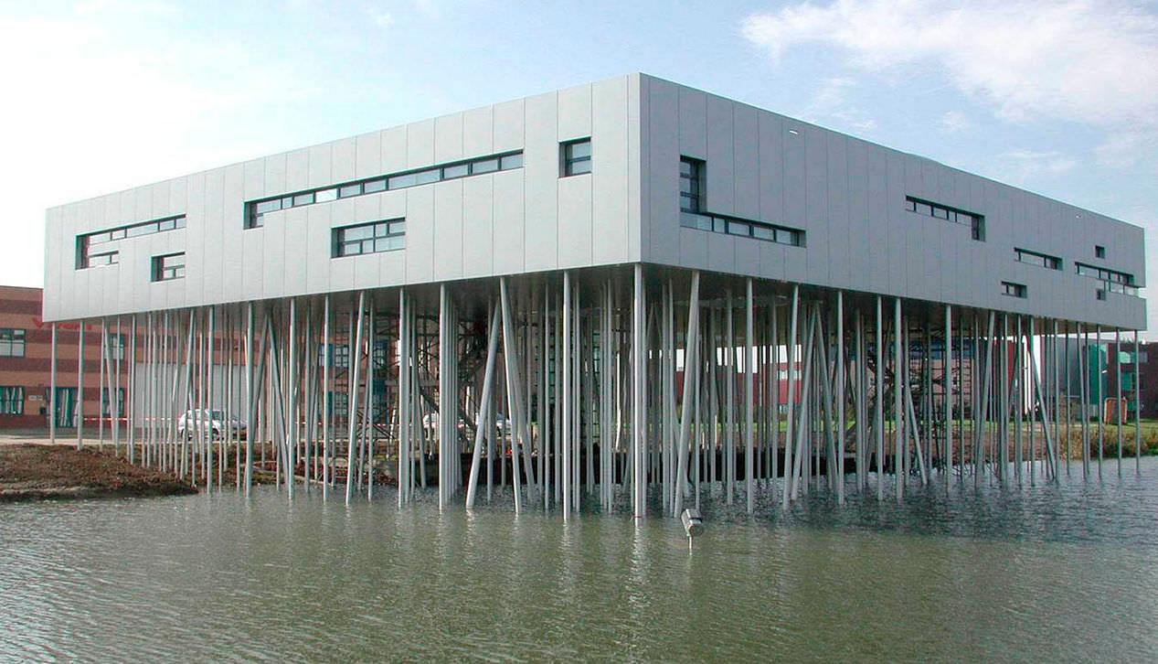 Aluminum Forest, Micha de Haas Architects, Alucobond Silver Metallic, Aluminum Composite Material
