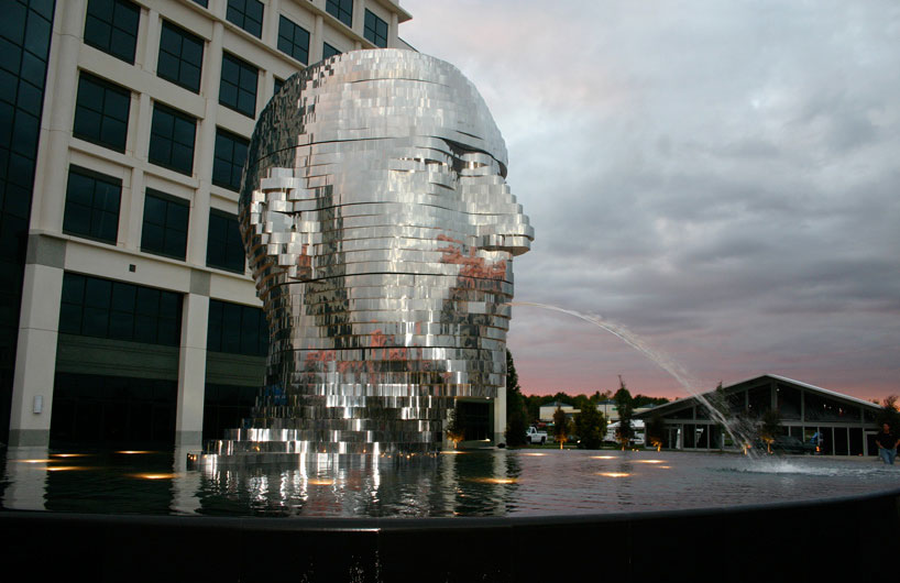 David Cerny, Metalmorphosis, Stainless Steel Aluminum Sculpture, North Carolina
