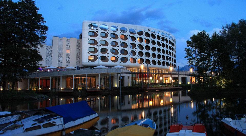 Seepark Hotel Lindner, Austria, Trecolore Architects, Alucobond, Bubble Façade, Aluminum Composite