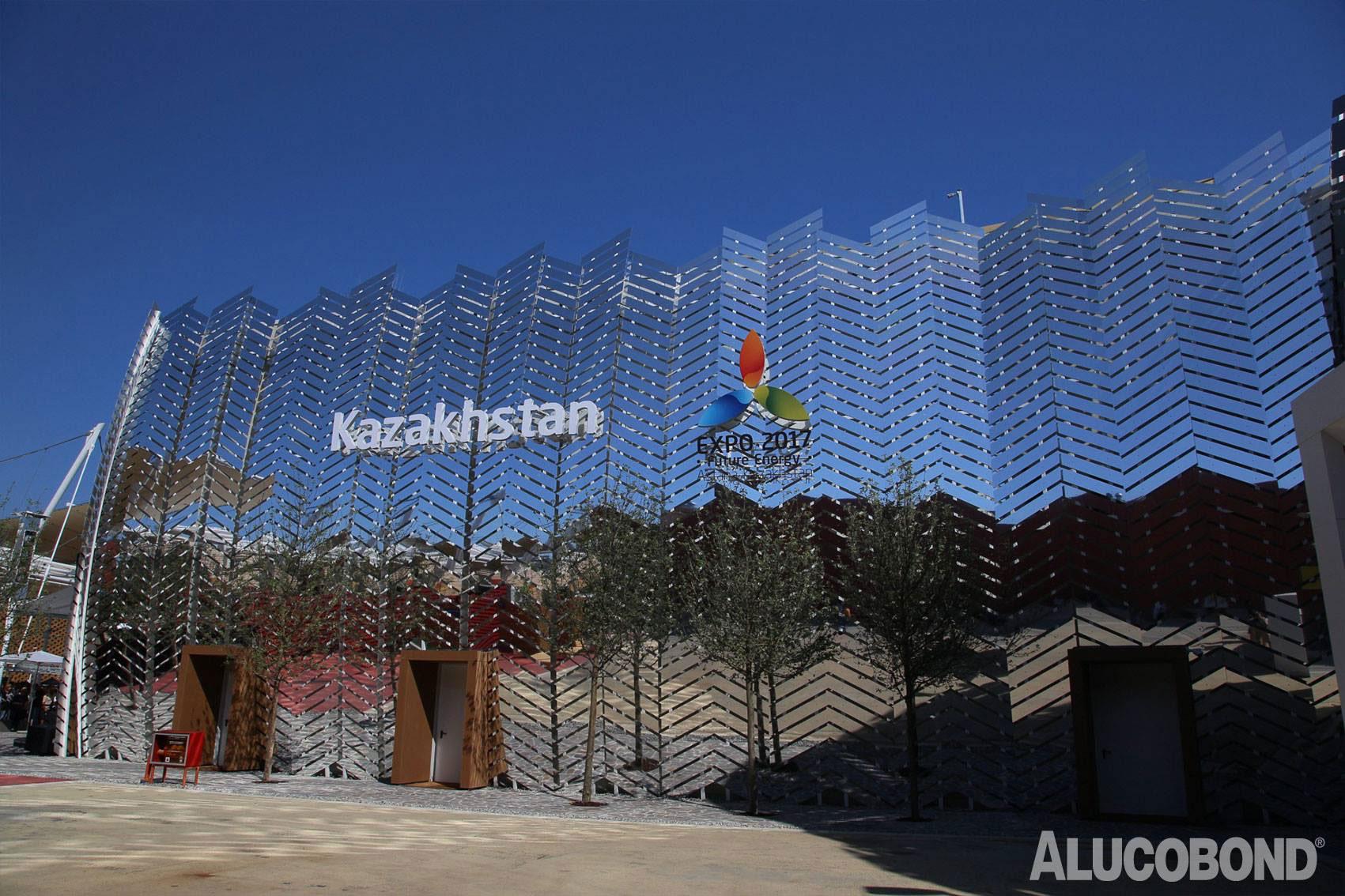 Milano Expo 2015, Kazakhstan Kazakh Pavilion, Alucobond NaturAL Reflect