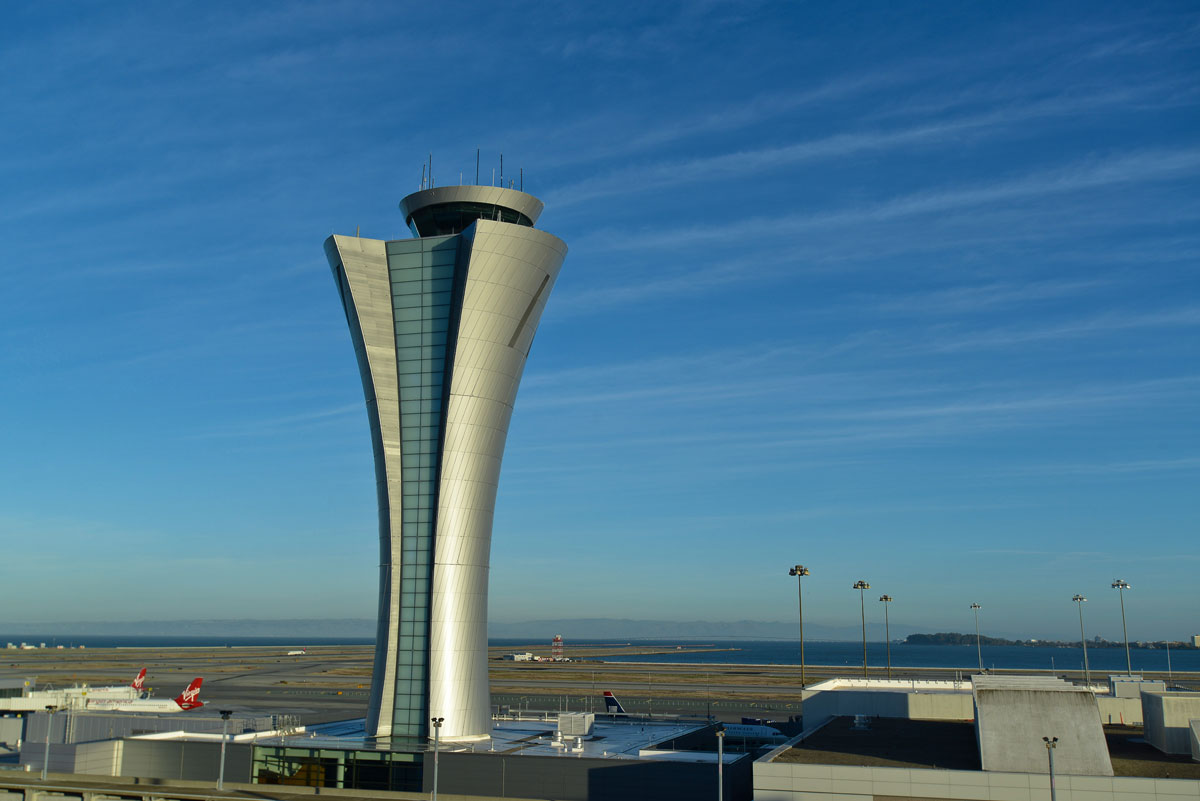 SFO airport control tower, San Francisco, HNTB, Fentress Architects, Keith, Panel, Pacific Erectors, Alucobond, Plus, SFO, Siliver, ACM, Photography, Daniel, Lunghi