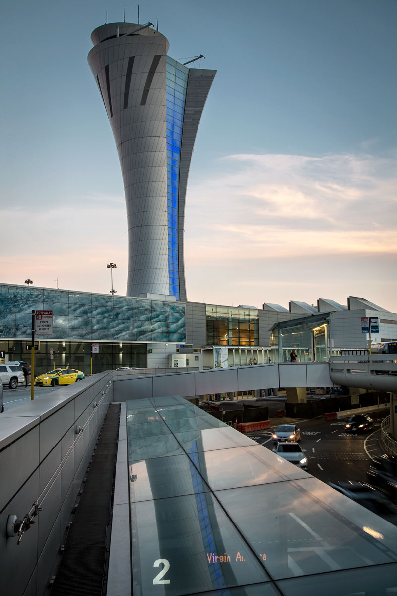 SFO airport control tower, San Francisco, HNTB, Fentress Architects, Keith, Panel, Pacific Erectors, Alucobond, Plus, SFO, Siliver, ACM, Photography, John, Swain