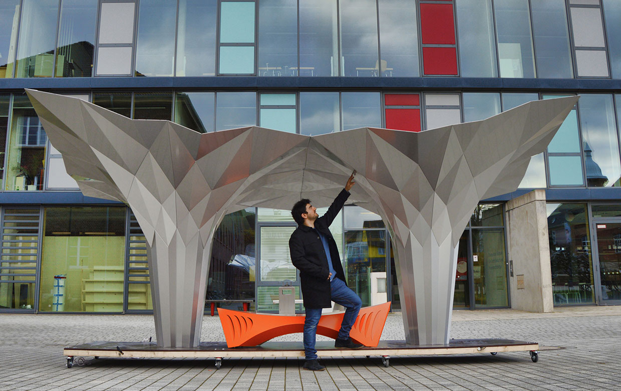 Origami Pavillion by Tal Friedman