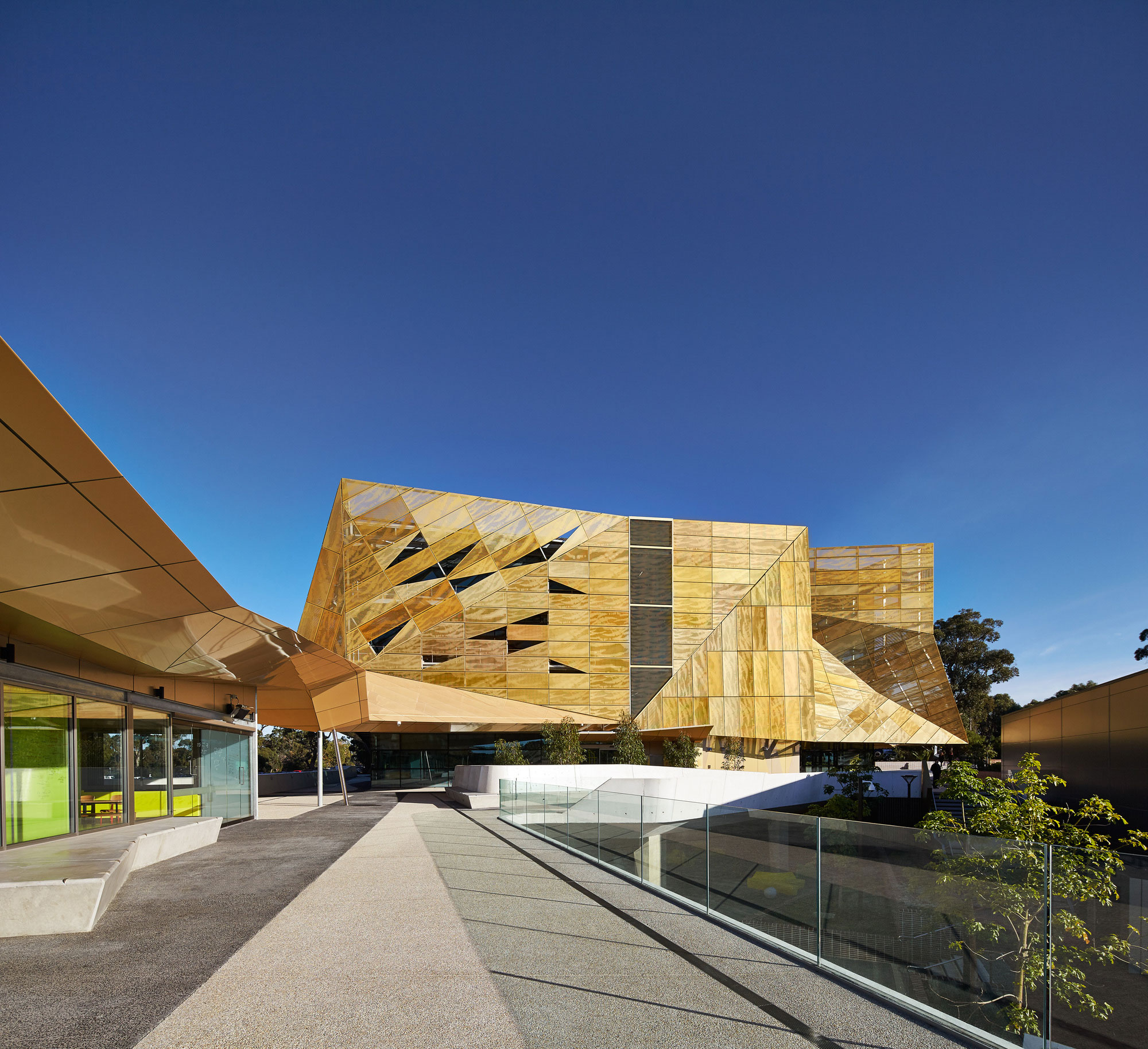 Ngoolark Student Services Building ECU, JCY Architects and Urban Designers, Perth, Australia, 2015, Alucobond Aluminum Composite, Photography Peter Bennetts