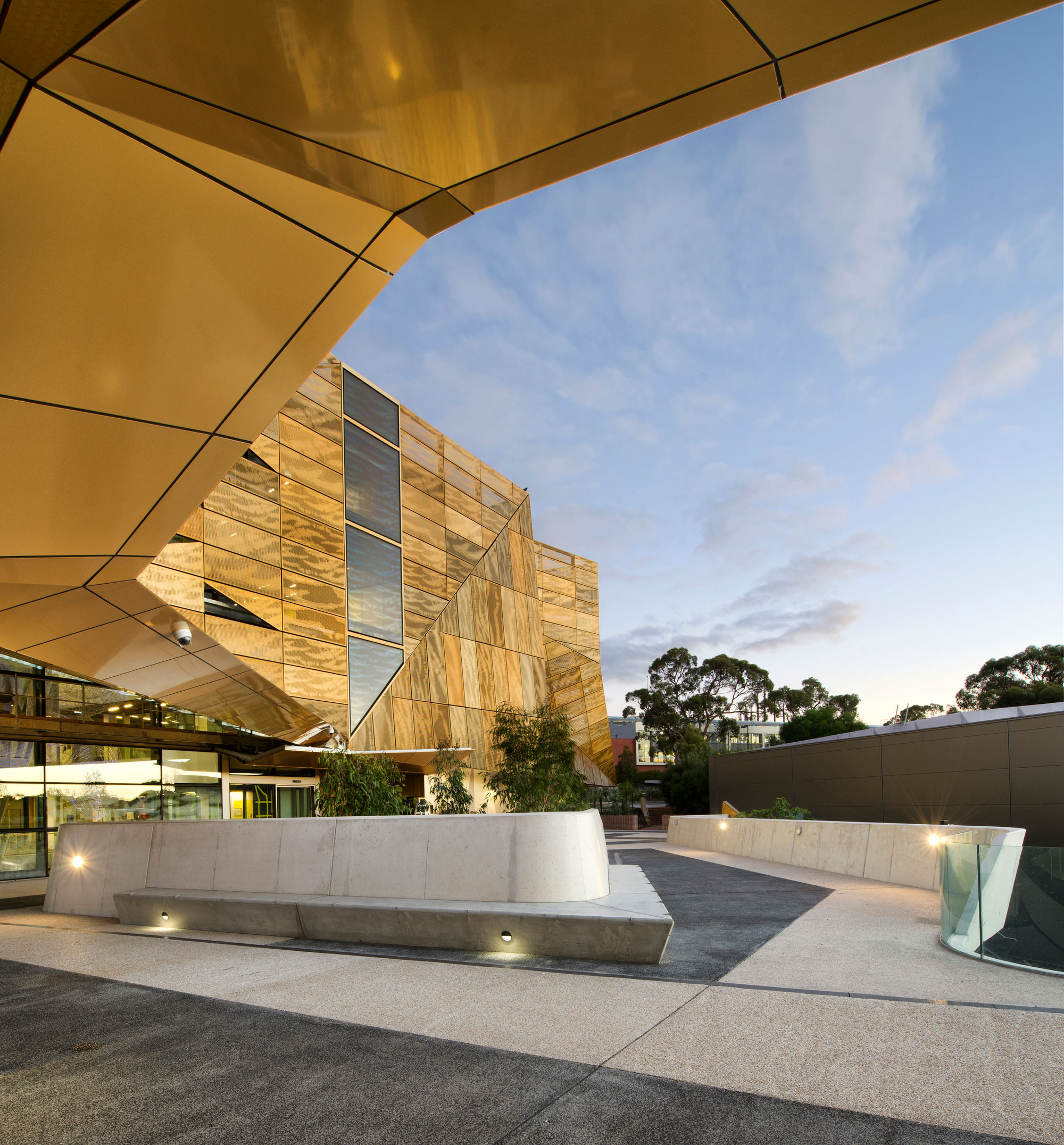 Ngoolark Student Services Building ECU, JCY Architects and Urban Designers, Perth, Australia, 2015, Alucobond Aluminum Composite, Photography Rob Ramsay