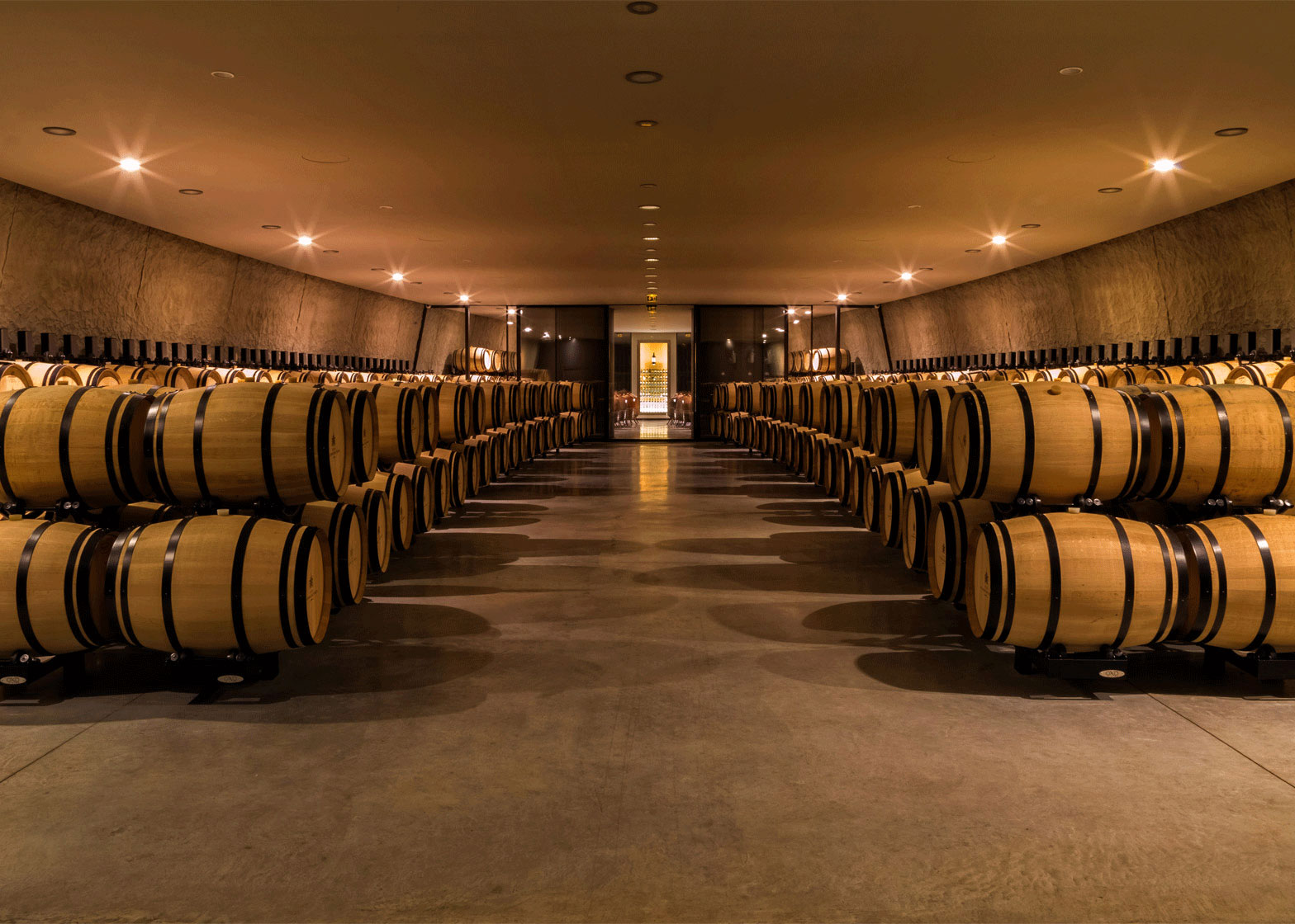 Chateau Les Carmes Haut Brion, Wine Cellar, Philippe Starck, Bordeaux, France, Alucobond naturAL Finesse, Photography Philippe Labegurie