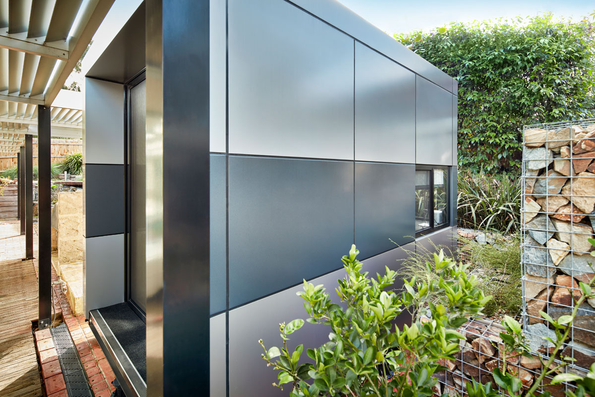 Harwyn Modular Office Pod, Jason Fremder, Australia, Metallic Alucobond ACM