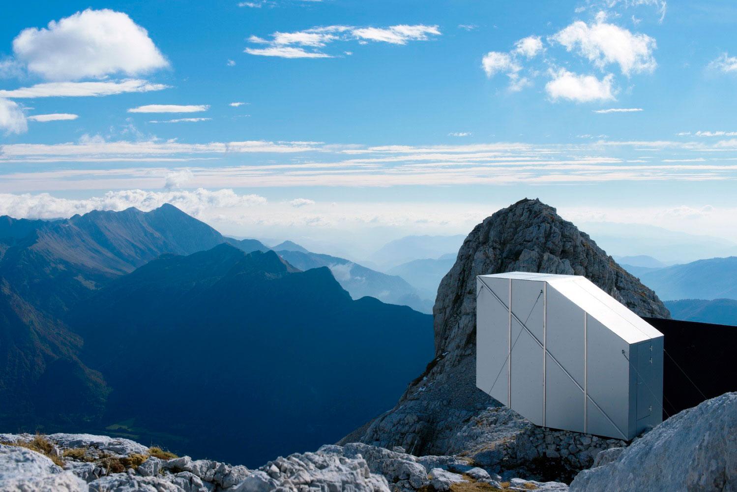 OFIS Architekti, Winter Cabin Mount Kanin, Slovenia, Alucobond Composite, Exterior, Janez Martincic