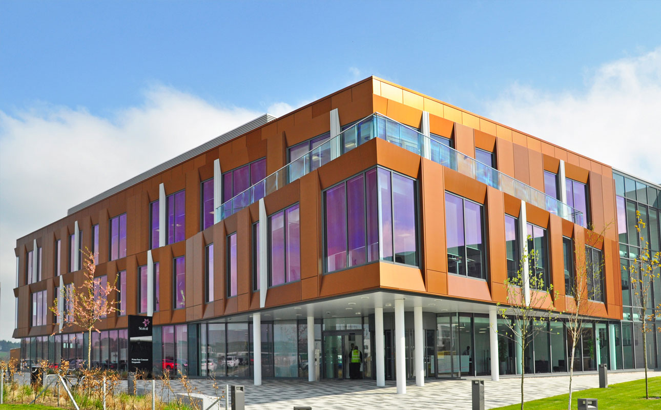 Statoil UK Headquarters, Alucobond NaturAL Copper, Halliday Fraser Munro, Sotech Optima