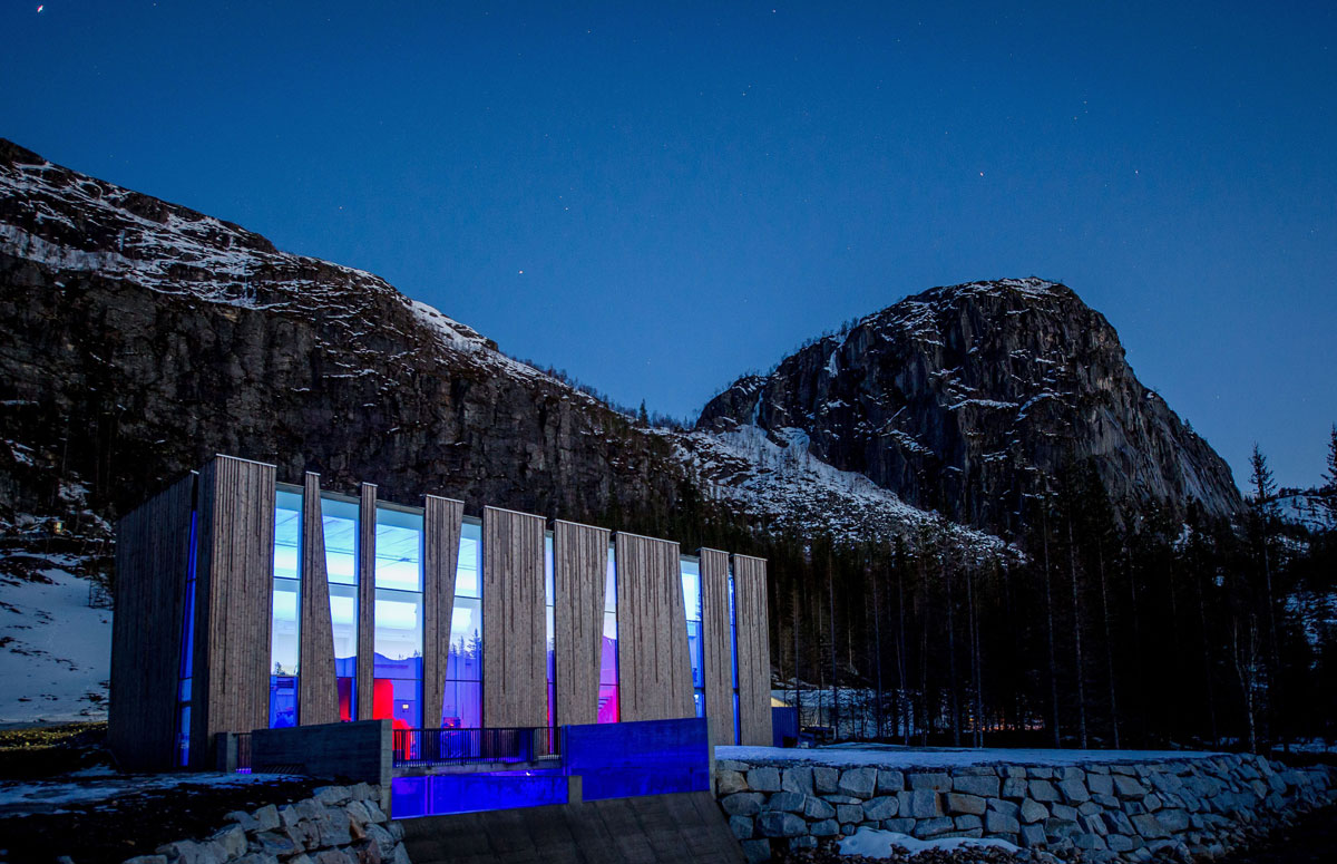 Ovre Forsland Power Station, Stein Hamre Arkitektkontor, Helgelands Kraft, Photography Bjorn Leirvik