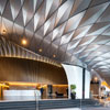 Architects Design Incredible Serpentine Awning With Diamond Shaped Alucobond PLUS Panels