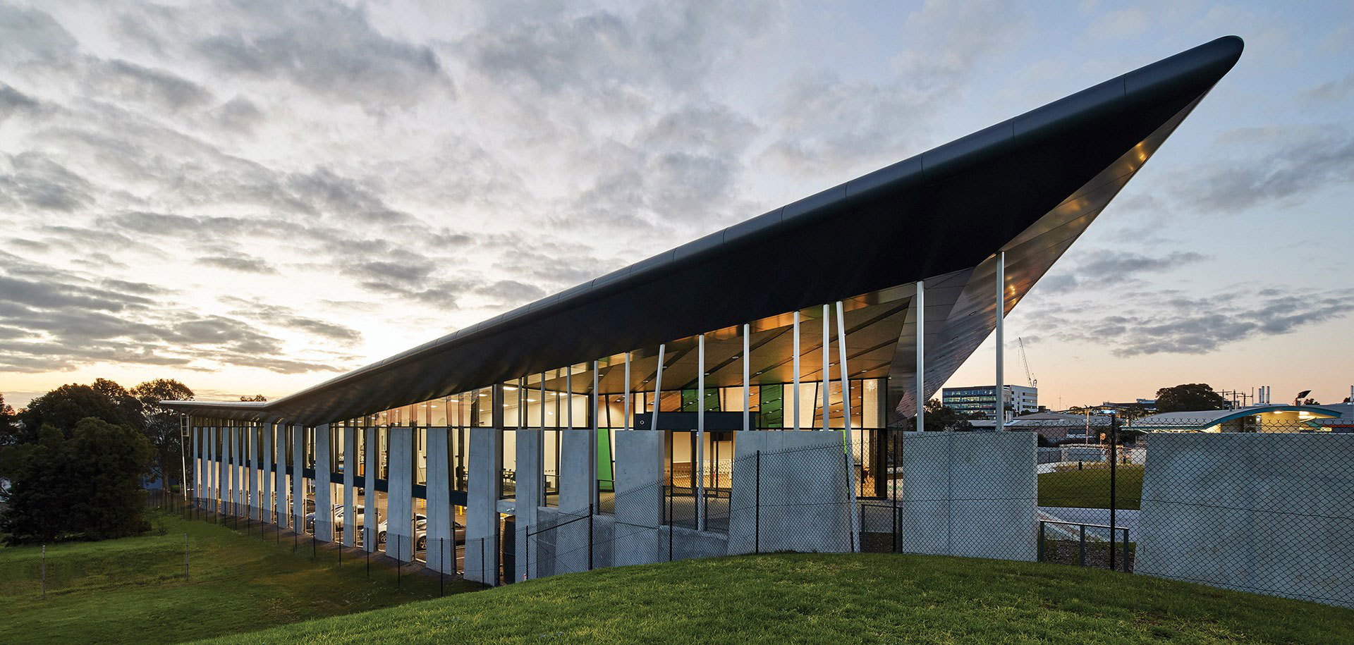 Gray Puksand, Peters Ice Cream Head Office, Australia, Alucobond Plus, Photography Peter Bennetts