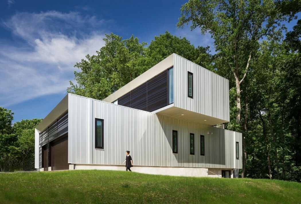 Bridge House, Howeler Yoon Architecture, Family Anodized Aluminum Clad Home, McLean, Virginia