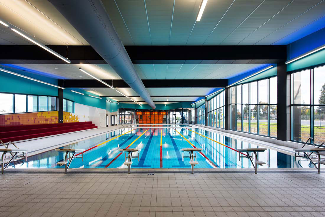 Goodfellow Aquatic Centre, Kardinia International College, Victoria, James Deans Architects, Upper Level Building Services, Alucobond PLUS Spectra Metallic