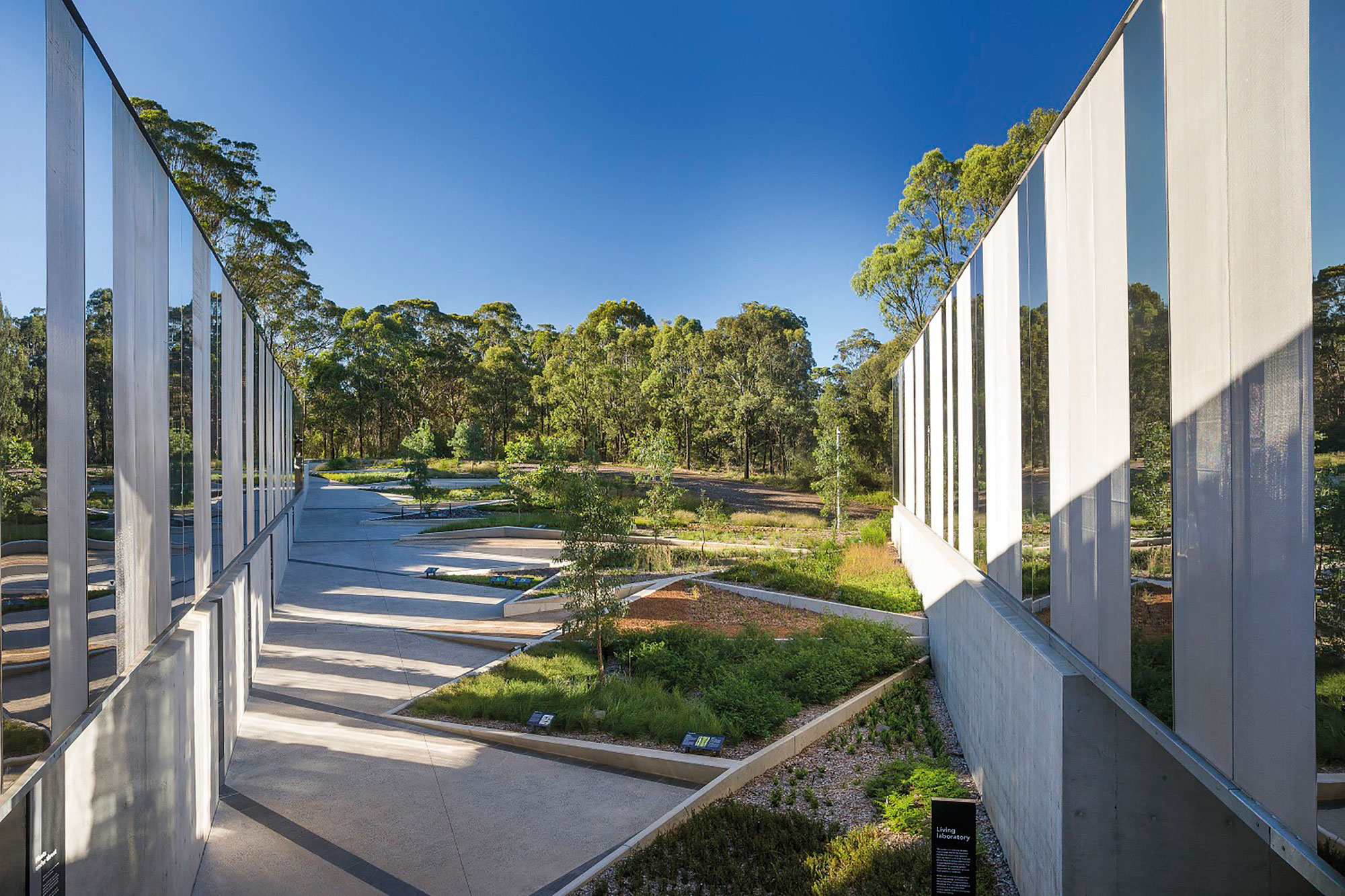 Plant Bank, Australia, Royal Botanical Gardens, BVN Architecture, Mirror Facade, Perforated Metal Exterior, Photography John Gollings