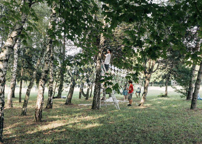 Mirage Pavilion, Studio Nomad, Budapest, Sziget Festival, Mirror Art Installation, Photography Balazs Danyi