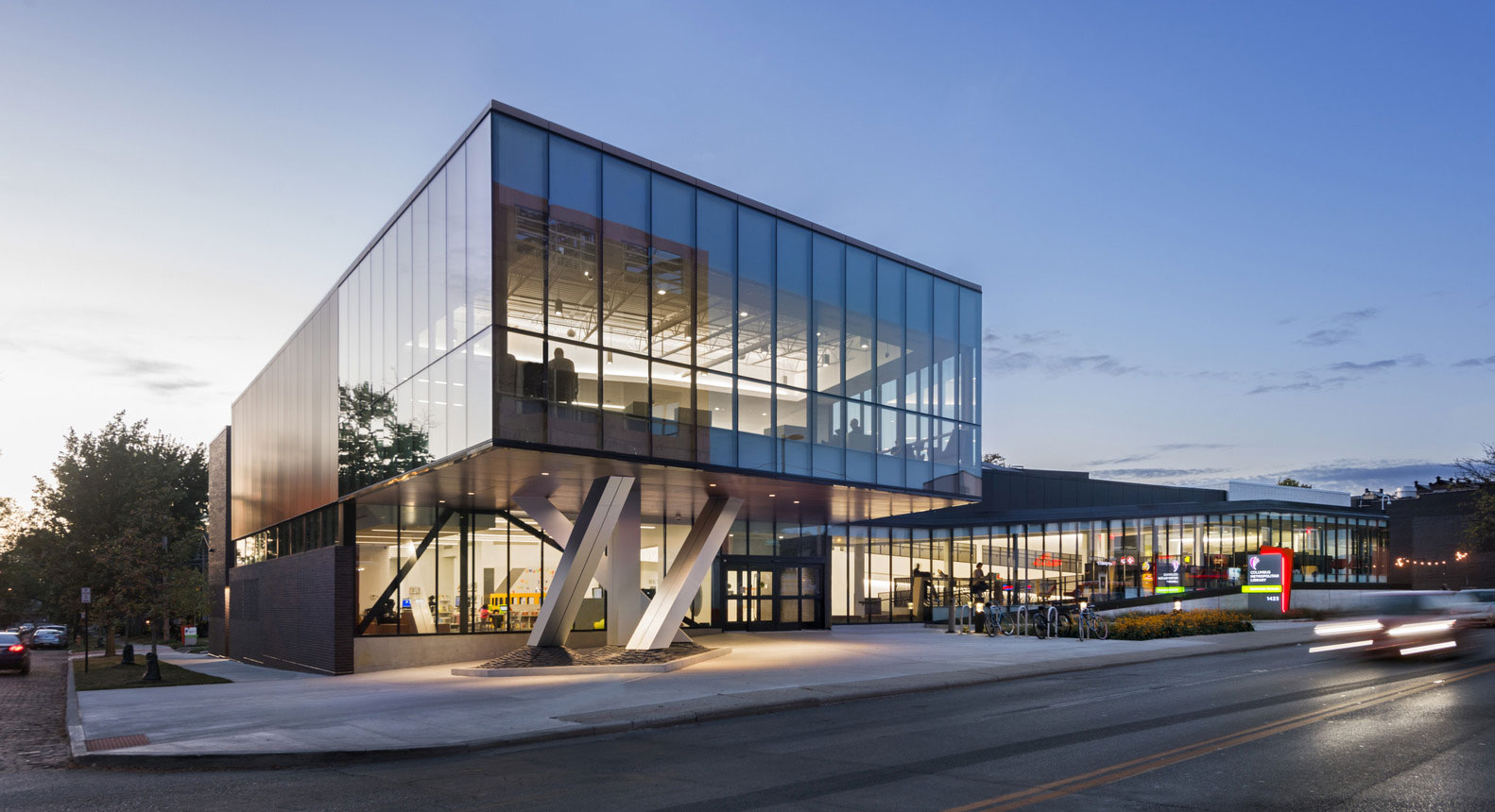 Northside Library, NBBJ, Ohio, Sobotec, Alucobond Plus, Custom ACM, Photography Chuck Choi