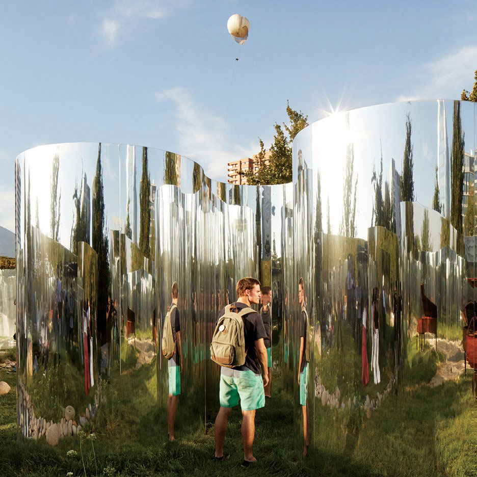 Guillermo Hevia Garcia, Nicolas Urzua, Your Reflection, MoMA Young Architects Program Santiago, Mirrored Art Installation, Photography Cristobal Palma