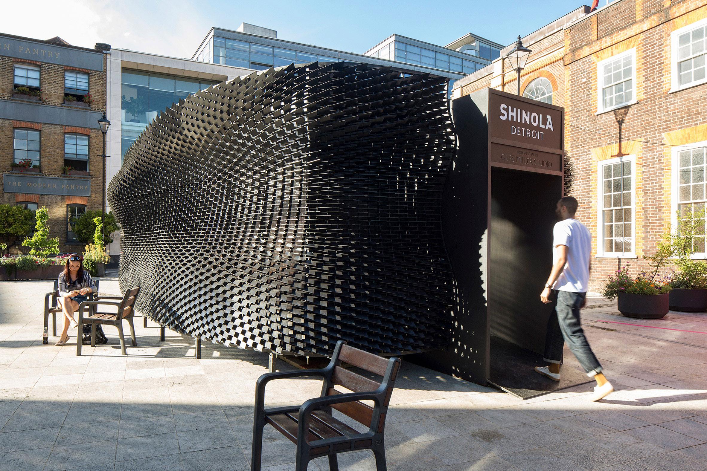 Giles Miller, Shinola, the Bolt, Clerkenwell Design Week, Dezeen, Richard Chivers