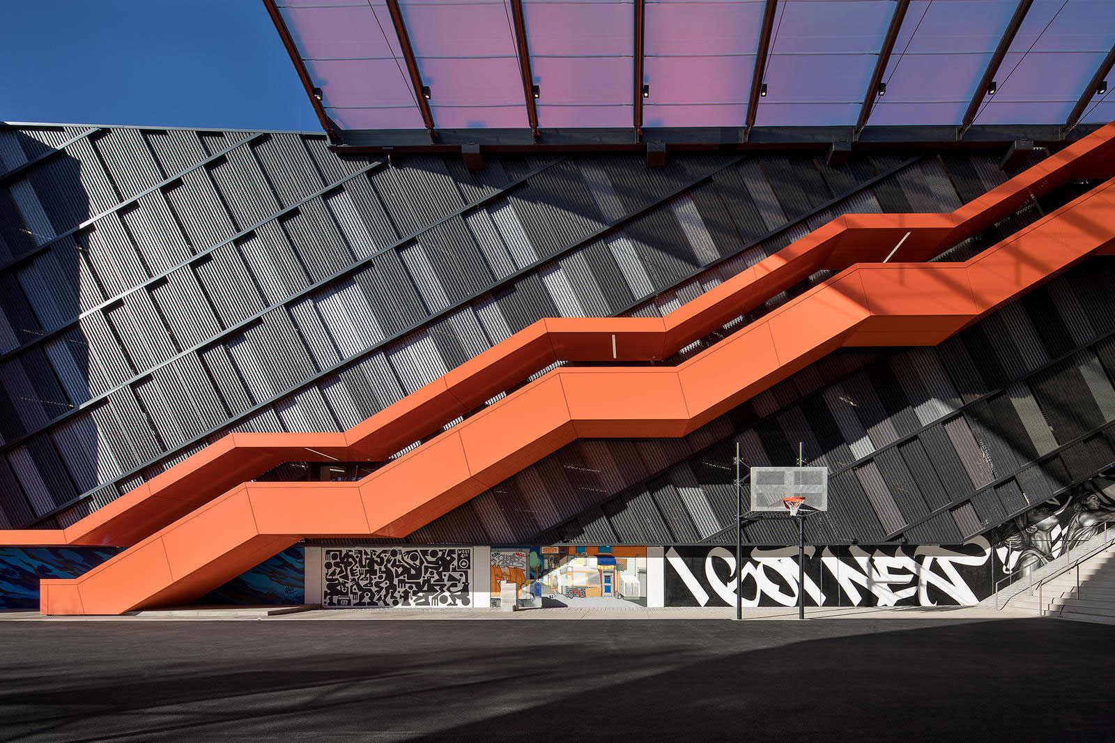 Nike NYC Garage, SRG Partnership, Hoffman Construction, Keith Panel Systems, Custom Alucobond ACM, Photography Nike