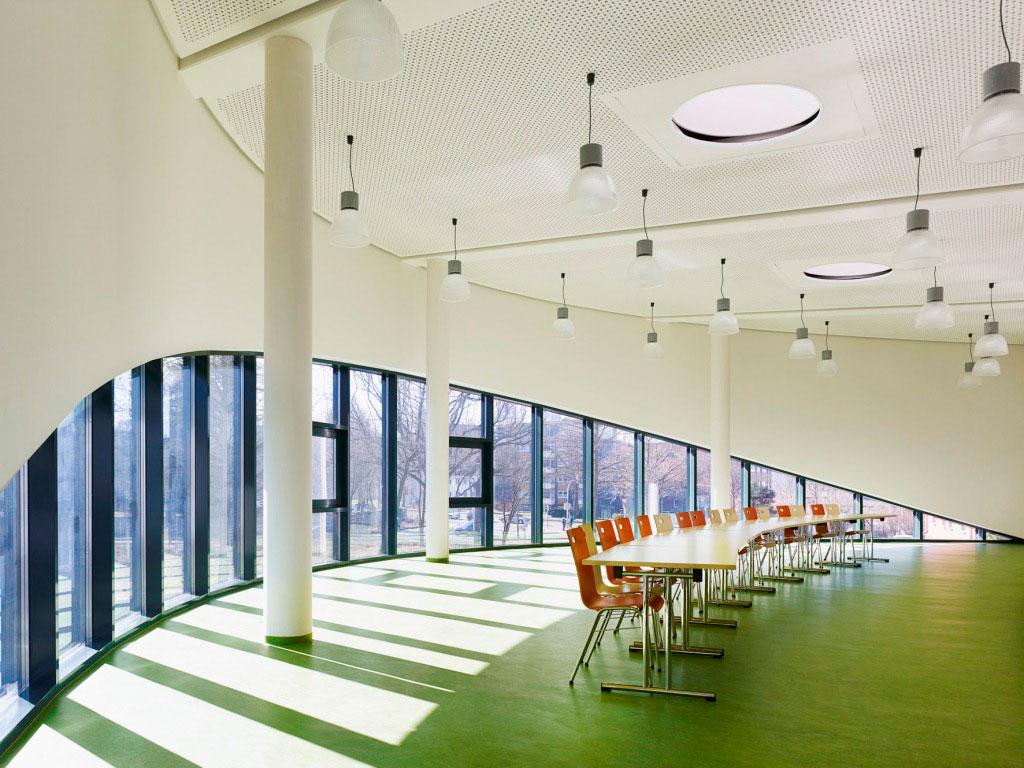Pelizaeus Reismann Canteen, Paderborn, Matern Waschle Architekten, Alucobond Spectra Sakura
