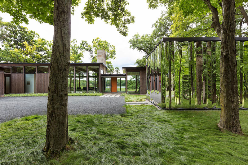 ATLAS Architecture Design, Woodland, Minnesota, House Mirror Shed Contemporary Modern Design, Photography Paul Crosby