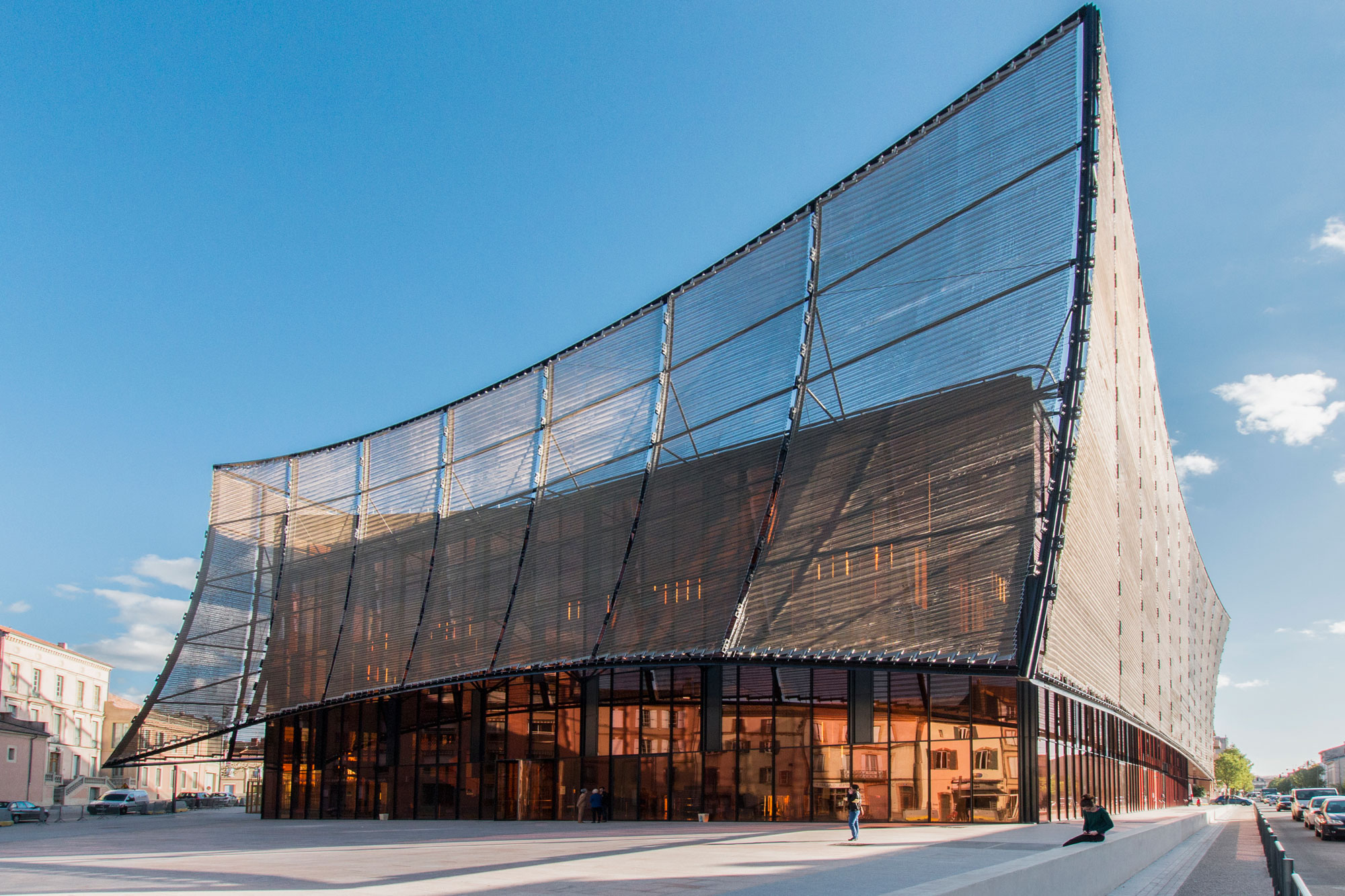 Albi Grand Theater, France, Dominique Perrault Architecture, Alucobond Spectra Cupral, Photography Manuel Panaget