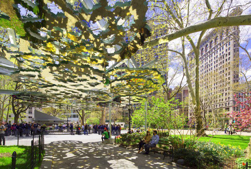 Teresita Fernandez, Fata Morgana, Madison Square Park, designboom, Photography Noboru Morikawa