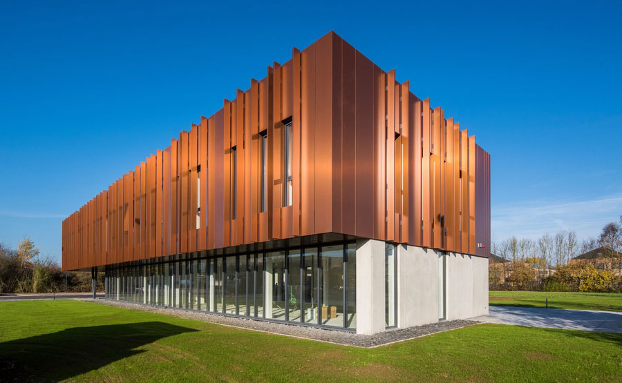 BDO Namur Charleroi, Office Building, BSolutions, Limeparts, Alucobond Plus naturAL Copper, Photography Kris Dimitriadis