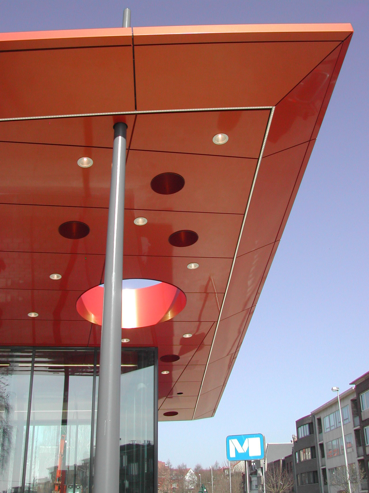 King Baudouin Metro Station, GS3 Associes, Alucobond A2 Spectra Cupral