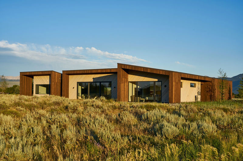 Jackson Hole, Wyoming, Wood Home, kt814 Architects, Contemporist, Photography David Agnello