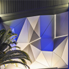 Hotel's Renovated Porte Cochere Greets Guests with Origami-Like Sculptural Façade Clad In ALUCOBOND® PLUS Spectra Color-Shifting Finish