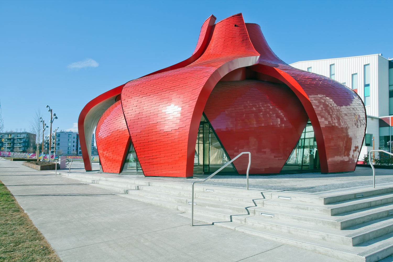 Red Petal Pavillion Cladding ACM